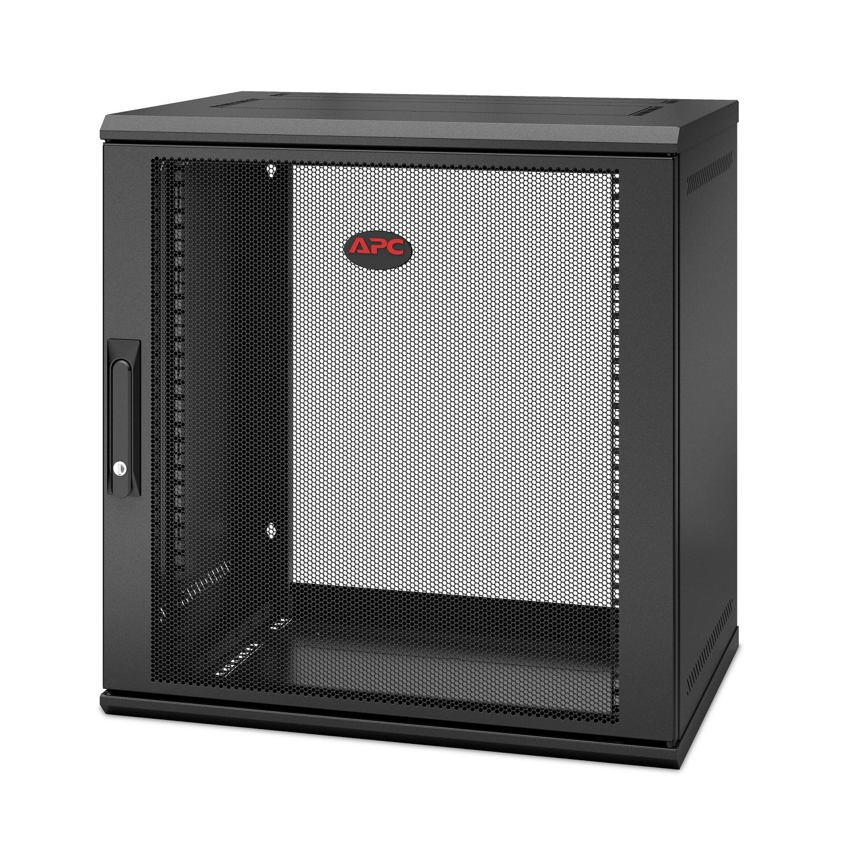 APC NetShelter WX 12U Single Hinged Wall-mount Enclosure 400mm Deep Bastidor de pared Negro