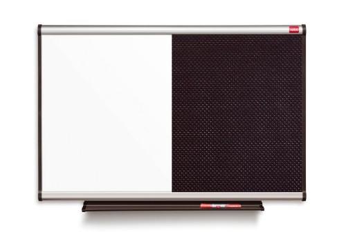Nobo Prestige Combination Black Noticeboard/Whiteboard 900x600mm