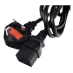 Lantronix IEC60320/C19 to BS1363, 8Ft Black 2.44 m C19 coupler