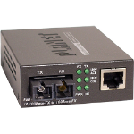 Planet FT802S15 network media converter 100 Mbit/s 1310 nm Multi-mode, Single-mode Black