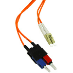 C2G 1m LC/SC Duplex 62.5/125 Multimode Fiber Patch Cable 1m Orange fiber optic cable