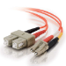 C2G 1m LC/SC LSZH Duplex 50/125 Multimode Fibre Patch Cable cable de fibra optica Naranja