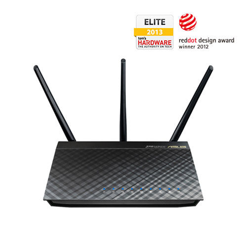 ASUS RT-AC66U Dual-band (2.4 GHz / 5 GHz) Gigabit Ethernet wireless router