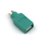 VCOM CA451 cable interface/gender adapter PS2 USB A Green