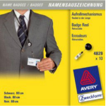 Avery 4829 identity badge/badge holder 10 pc(s)