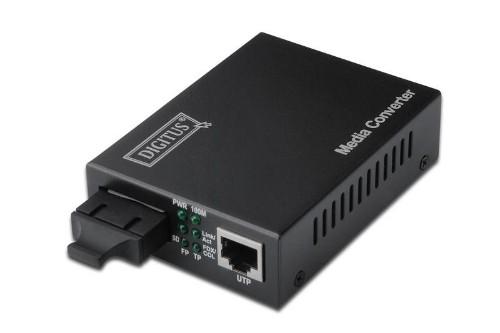 Digitus Fast Ethernet, RJ-45/SC network media converter 100 Mbit/s 1310 nm Multi-mode Black