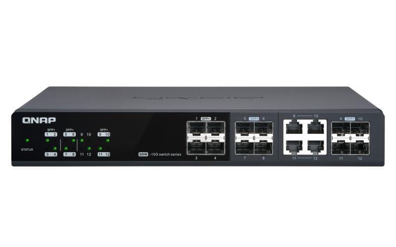 QNAP QSW-M1204-4C switch Gestionado 10G Ethernet (100/1000/10000) Negro
