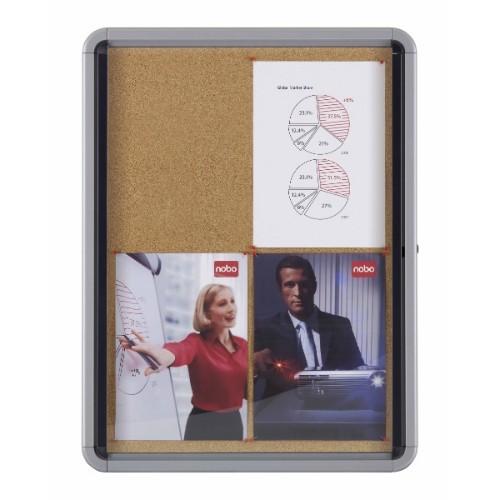 Nobo Internal Glazed Case Cork 6xA4