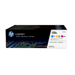 HP 128A CYM Origineel Cyaan, Magenta, Geel 3 stuk(s)