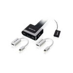 iogear GCS62HMDPKIT KVM switch Black,Grey