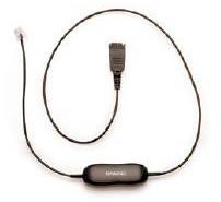 Jabra QD cord, straight, mod plug 0.5m telephony cable
