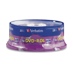 Verbatim DVD+R DL 8.5GB 2.4X Branded 20pk Spindle 8.5GB DVD+R DL 20pieza(s) dir