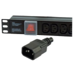 Dynamode PDU-6WS-H-IEC-IEC power distribution unit (PDU) Black 6 AC outlet(s)