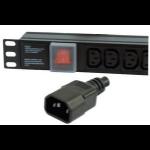 Dynamode PDU-6WS-H-IEC-IEC power distribution unit (PDU) Black 6 AC outlet(s)
