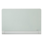 Nobo Diamond Glass Board with Rounded Corners Magnetic White 1264x711mm