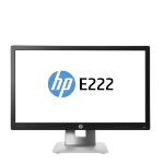 "HP EliteDisplay E222 54.6 cm (21.5"") 1920 x 1080 pixels Full HD LED Black, Silver M1N96AA"