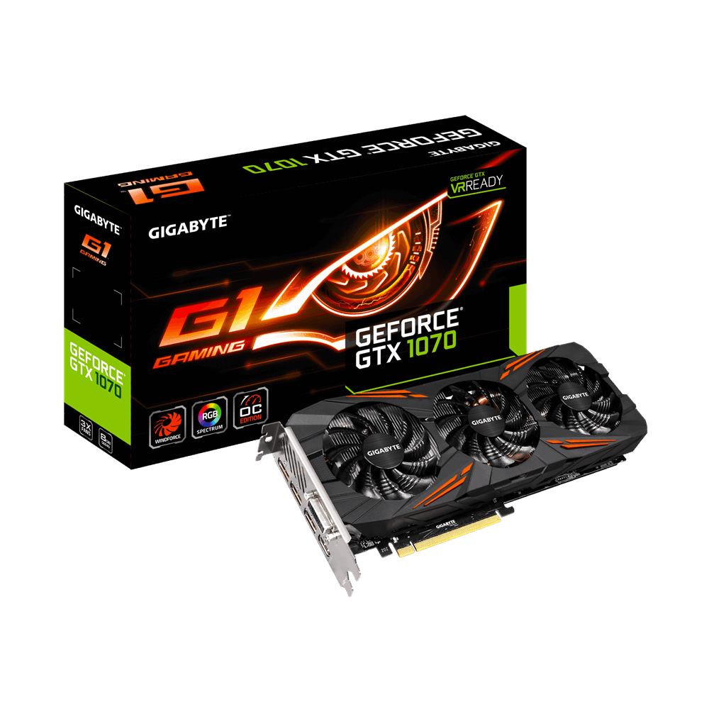 Gigabyte GeForce GTX 1070 G1 Gaming 8GB
