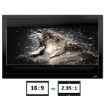 Celexon DELUXX Cinema Frame Vertical-Adjustable - 221cm x 124cm - 16:9/21:9 Aspect Ratio (Grey Fabric) - Fixed Frame