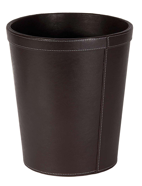 Osco Faux Leather Waste Bin Brown
