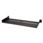 """StarTech.com 1U Vented Server Rack Cabinet Shelf - 7in Deep Fixed Cantilever Tray - Rackmount Shelf for 19"""" AV/Data/Network Equipment Enclosure with Cage Nuts & Screws - 44lbs capacity"""