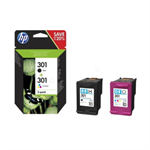 HP N9J72AE (301) Printhead multi pack, 190pg + 165pg, Pack qty 2