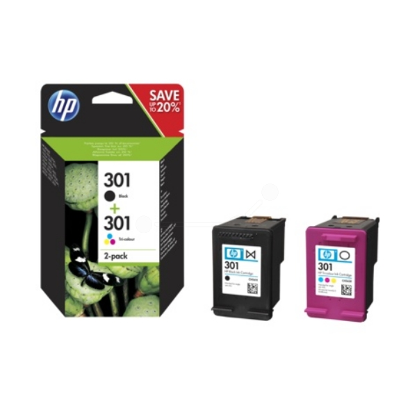 HP N9J72AE#301 (301) Printhead multi pack, 190pg + 165pg, Pack qty 2