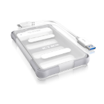 "ICY BOX IB-275U3 HDD/SSD enclosure 2.5"" Transparent,White HDD/SSD enclosure"