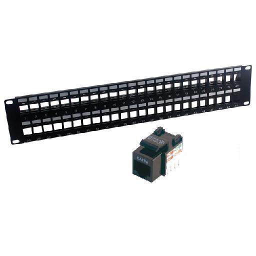 MCL PB-UNI5E/48N panel de parcheo 2U