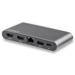 StarTech.com Dual-Monitor USB-C Multiport Adapter - 2 x 4K HDMI - 100W PD 3.0