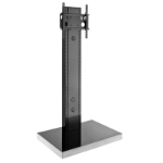 "Hagor 1566 flat panel floorstand Portable flat panel floor stand Black 139.7 cm (55"")"