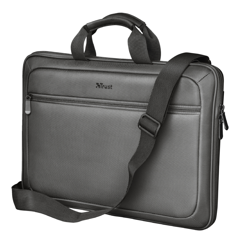 "Trust York notebook case 35.6 cm (14"") Sleeve case Black, Gray 23299"