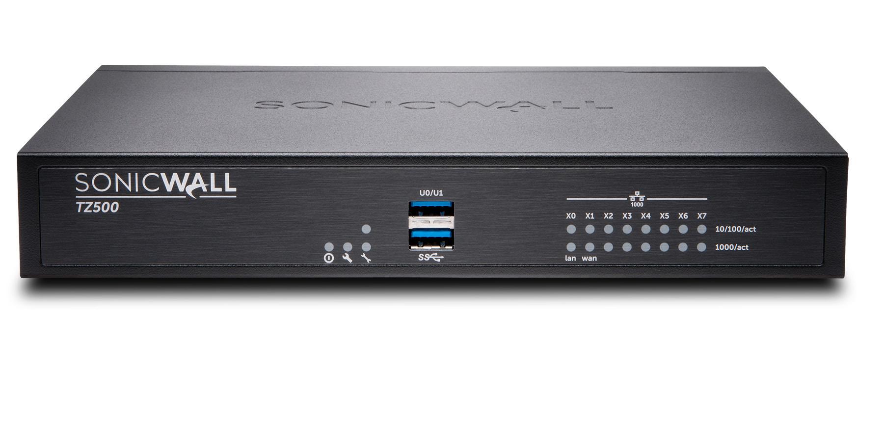 SonicWall TZ500 cortafuegos (hardware) 1400 Mbit/s