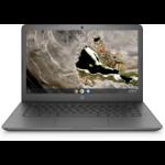 "HP Chromebook 14A G5 LPDDR4-SDRAM 14"" 1366 x 768 pixels 7th Generation AMD A4-Series APUs 4 GB 32 GB eMMC Wi-Fi 5 (802.11ac) Chrome OS Gray"