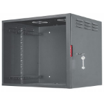 "Intellinet 19"" Secure Wallmount Cabinet, 6U, 450mm depth, Assembled, Black"