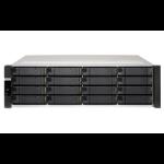 QNAP ES1686dc D-2142IT Ethernet LAN Rack (3U) Black NAS