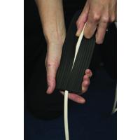 D-Line FLR CABLE COVER BLK C/W CONNECTORS