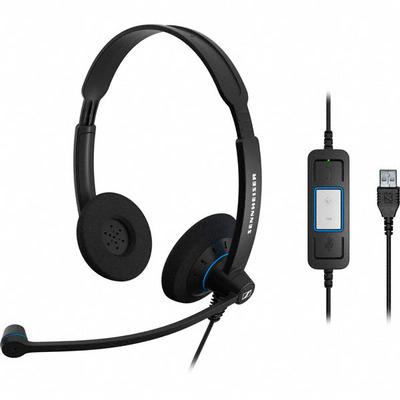 Sennheiser SC 60 USB CTRL Binaural Head-band Black headset