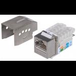 Intellinet Keystone Jack, Cat6A, FTP, Toolless, Locking Function, Metallic
