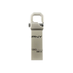 PNY Hook 3.0 USB flash drive 128 GB USB Type-A 3.0 (3.1 Gen 1) Silver