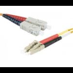 EXC 390770 fibre optic cable 5 m LSZH OM1 SC/UPC LC/UPC Orange