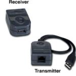C2G USB Superbooster Extender USB A RJ45 Black cable interface/gender adapter
