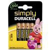Duracell Simply AAA 4 Pack Single-use battery Alkaline