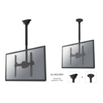 "Newstar TV/Monitor Ceiling Mount for 32""-60"" Screen, Height Adjustable - Black"