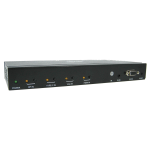 Tripp Lite 4-Port Multi-Format Presentation Switch - 4K 60 Hz HDMI, DP & USB-C, VGA, UHD, 4:4:4, HDR, 100W PD Charging