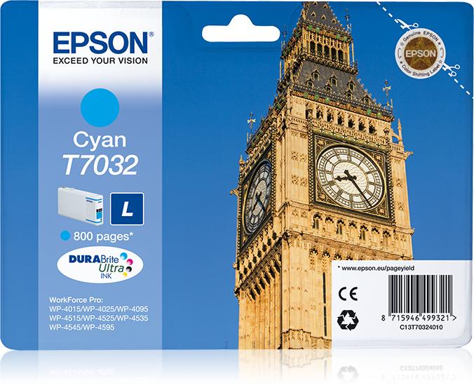 Epson Big Ben Cartucho T70324010 cian L