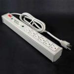 C2G 16303 6AC outlet(s) 1.8m Black power extension