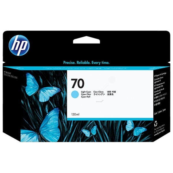 HP C9390A (70) Ink cartridge bright cyan, 130ml