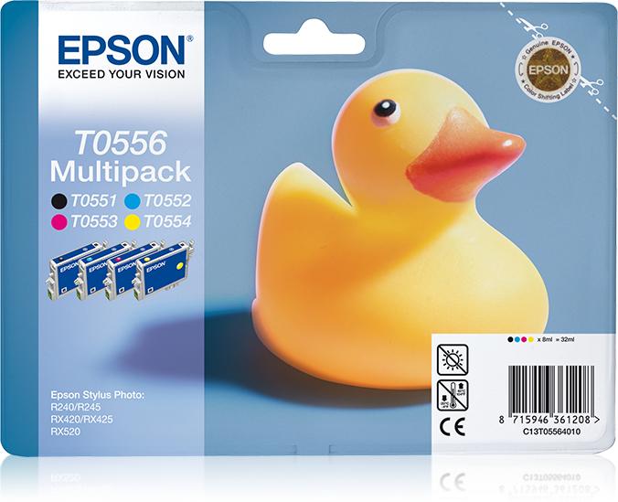 Epson Duck T0556 Original Schwarz, Cyan, Magenta, Gelb Multipack 1 Stück(e)