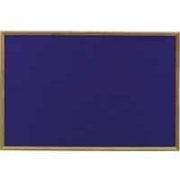 Nobo Classic Felt Noticeboard Blue with Light Oak Frame 1200x900