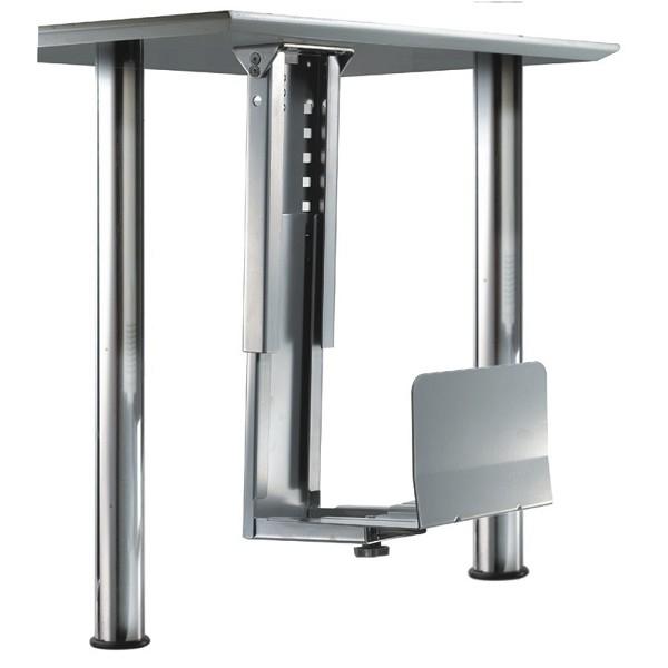 Newstar Under Desk PC Mount (Suitable PC Dimensions - Height: 39-54 cm / Width: 13-23 cm) - Silver